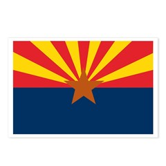 AZ Flag w/o title Postcards (Package of 8)