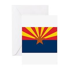 AZ Flag w/o title Greeting Card