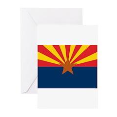 AZ Flag w/o title Greeting Cards (Pk of 20)