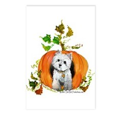 Autumn Pumpkin Westie Postcards (Package of 8)