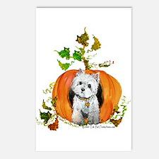 Autumn Pumpkin Westie Postcards (Package of 8)