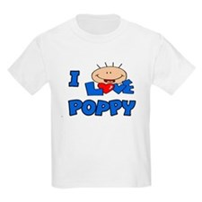 I Love Poppy Blue T-Shirt