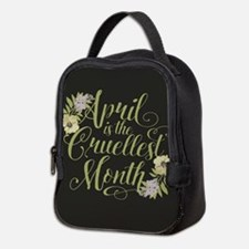 April Is The Cruellest Month Neoprene Lunch Bag
