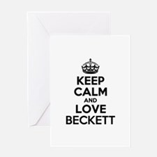 Keep Calm and Love BECKETT Greeting Cards