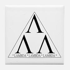 Lambda Lambda Lambda Tile Coaster