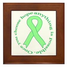 Lt. Green Hope Framed Tile