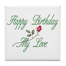 Lover Birthday Tile Coaster