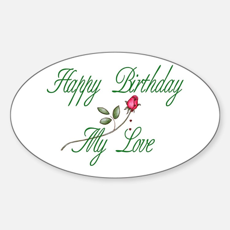 Lover Birthday Oval Decal