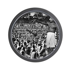 Mahatma Mohandas K Gandhi Wall Clock