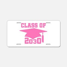 Class Of 2030 Pink Graduati Aluminum License Plate