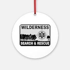 Wilderness Search & Rescue Round Ornament