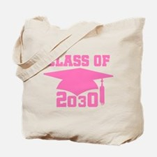 Class Of 2030 Pink Graduation Tote Bag