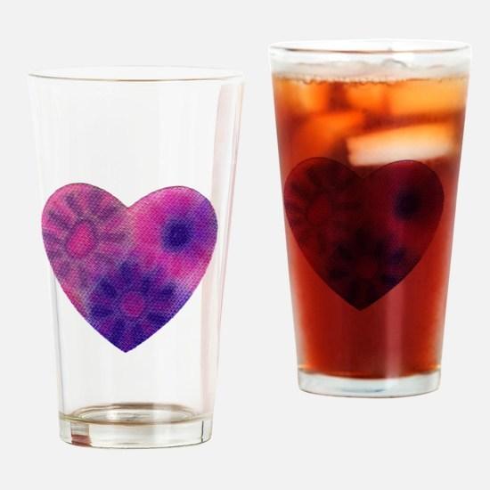 Tye dye Drinking Glass