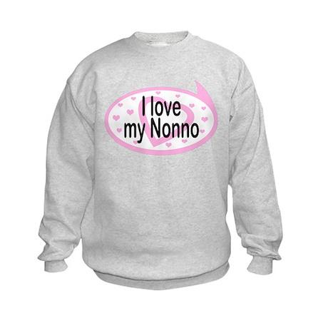 I Love Nonno TALK BUBBLE Kids Sweatshirt