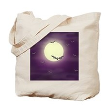 Bats on the Moon Tote Bag