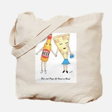 Beer and Pizza Tote Bag