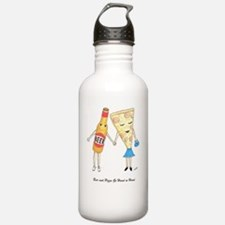 Beer and Pizza Water Bottle