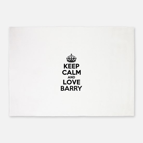 Keep Calm and Love BARRY 5'x7'Area Rug