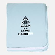 Keep Calm and Love BARRETT baby blanket