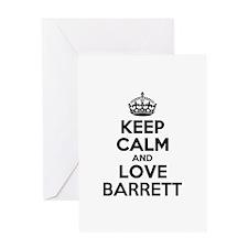 Keep Calm and Love BARRETT Greeting Cards