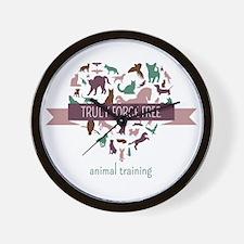 Truly Force Free Animal Training Wall Clock