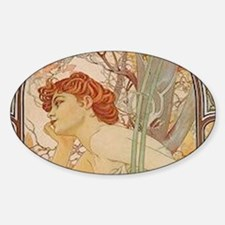 Mucha - Art Nouveau In The Garden Decal