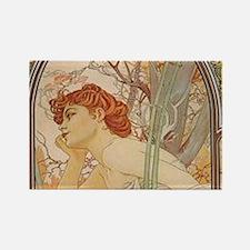 Mucha - Art Nouveau In The Garden s Magnets