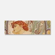Mucha - Art Nouveau In The Garde Car Magnet 10 x 3