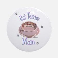 Rat Terrier Mom Ornament (Round)