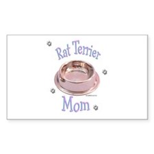 Rat Terrier Mom Rectangle Decal