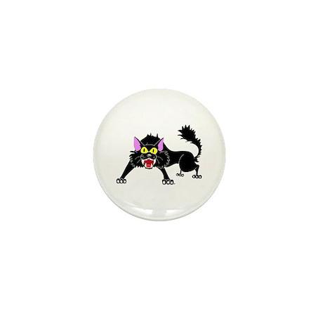 Hissing Black Cat Mini Button (100 pack)