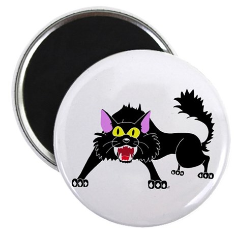 "Hissing Black Cat 2.25"" Magnet (10 pack)"