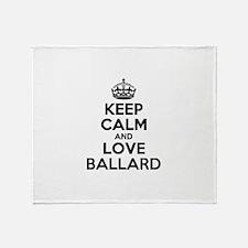 Keep Calm and Love BALLARD Throw Blanket
