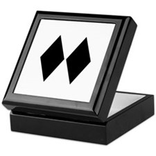 Double Diamond Ski Keepsake Box