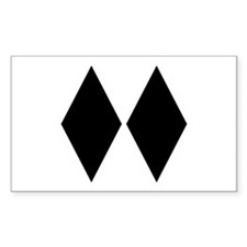 Double Diamond Ski Rectangle Decal