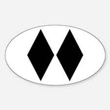 Double Diamond Ski Oval Decal