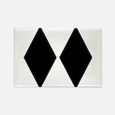 Double Diamond Ski Rectangle Magnet