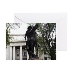 Rough Rider Statue Greeting Cards (Pk of 20)