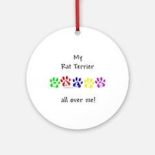 Rat Terrier Walks Ornament (Round)