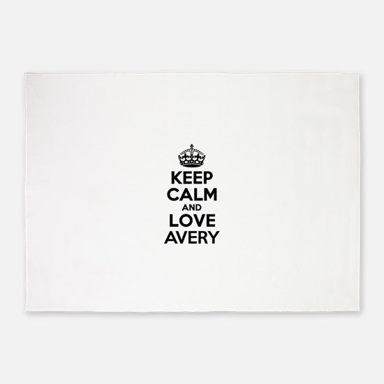 Keep Calm and Love AVERY 5'x7'Area Rug
