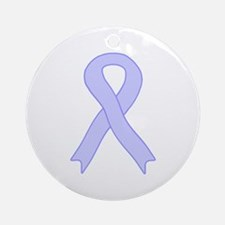 Periwinkle Ribbon Ornament (Round)