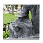 Prescott Cowboy Statue Tile Coaster