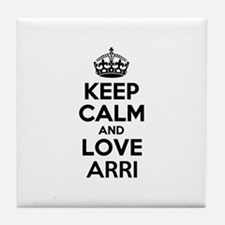 Keep Calm and Love ARRI Tile Coaster