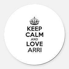 Keep Calm and Love ARRI Round Car Magnet