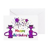 Birthday cats wife Greeting Cards