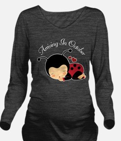 October Due Date pregnancy Long Sleeve Maternity T