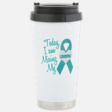 Cute Cervical cancer ribbon Travel Mug