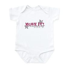 move it (pink) Infant Bodysuit