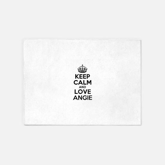 Keep Calm and Love ANGIE 5'x7'Area Rug
