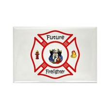 Future Firefighter Red Rectangle Magnet